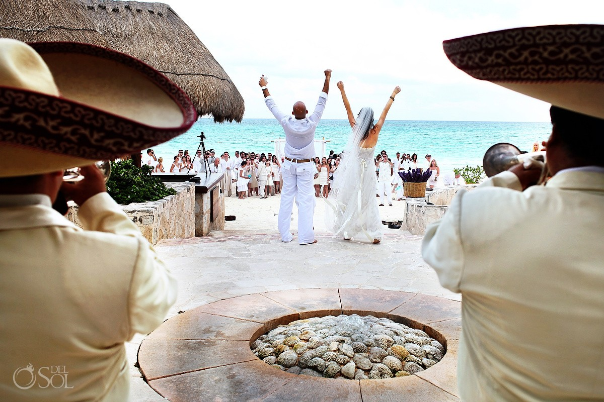 Cosmic beach wedding at Maroma Resort & Spa, Riviera Maya, Mexico.