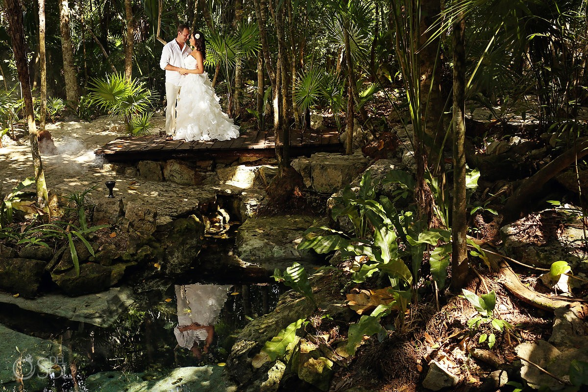 Riviera Maya trash the dress jungle Mexico Del Sol Photography