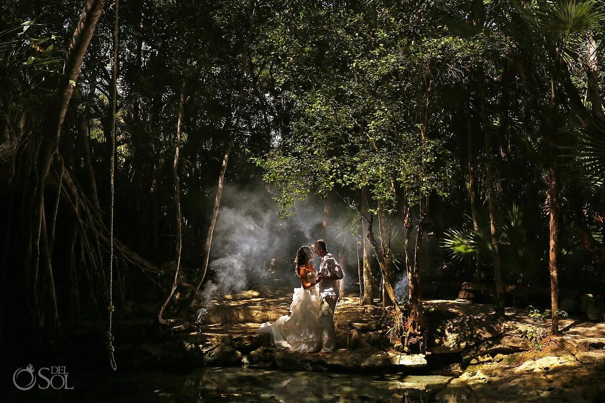 Riviera Maya trash the dress jungle cenote Del Sol Photography Mexico