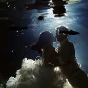 Riviera Maya trash the dress underwater cenote Mexico Del Sol Photography