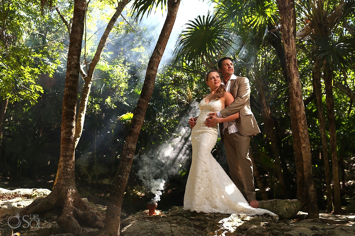 Riviera Maya trash the dress cenote Mexico Del Sol Photography