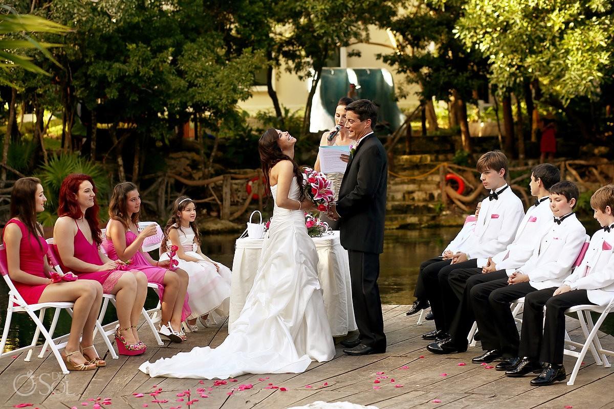 Riviera Maya wedding cenote Sandos Caracol Mexico Del Sol Photography