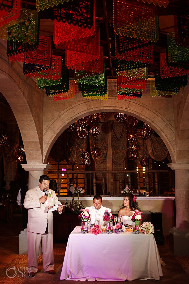 mexican themed wedding reception dreams riviera cancun