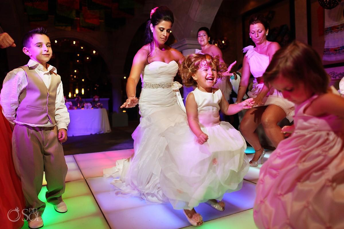 dance floor at dreams riviera cancun ballroom wedding reception