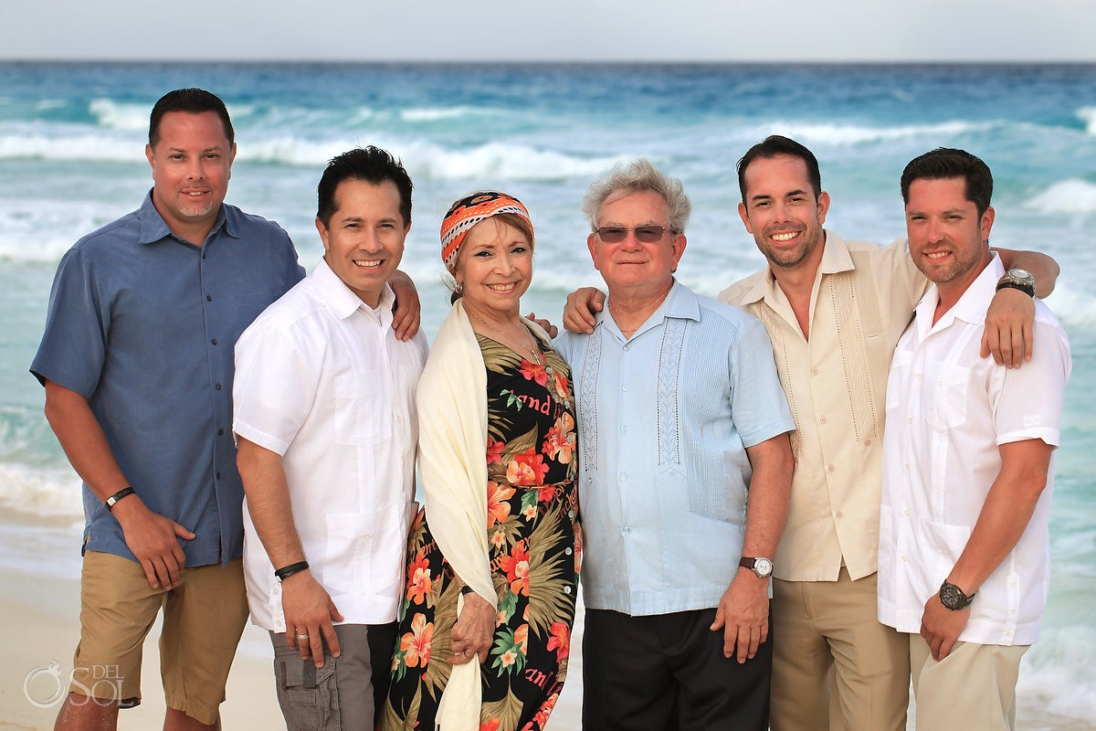 Cancun family portraits beach Gran Caribe Real Mexico Del Sol Photography