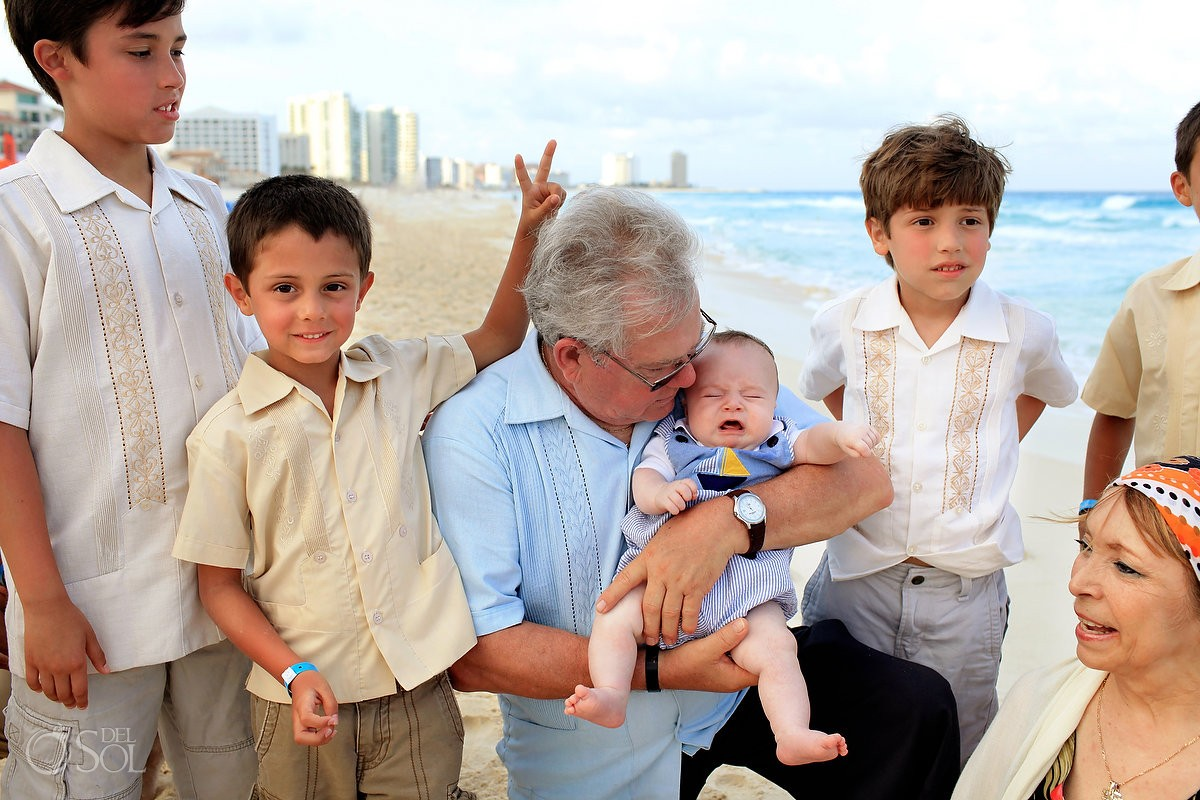 Cancun family portraits beach Gran Caribe Real Mexico Del Sol Photography