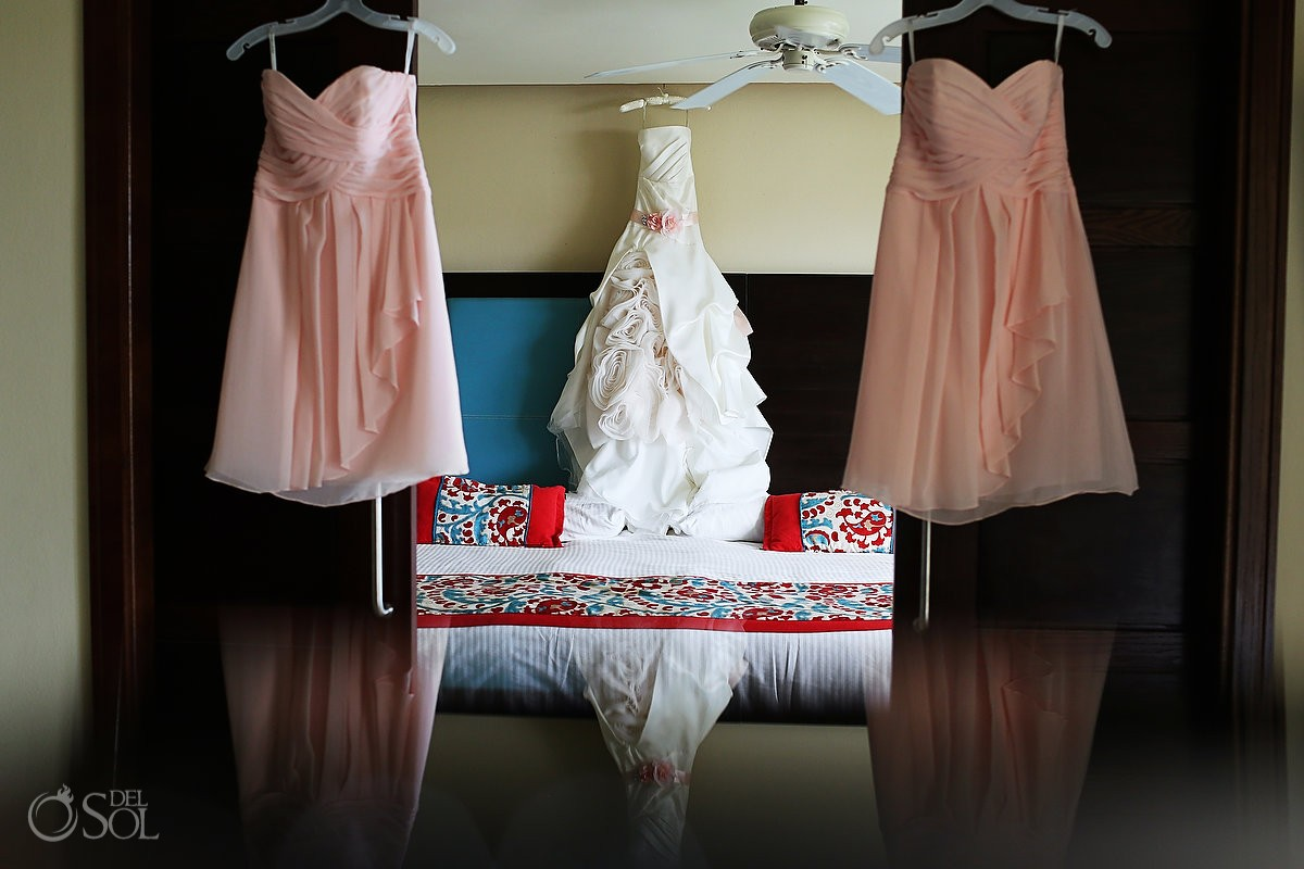 Now Jade Wedding Dress Hanging