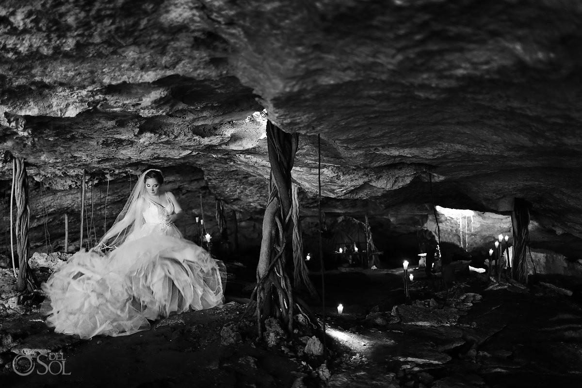 Riviera Maya trash the dress cave cenote Mexico Del Sol Photography