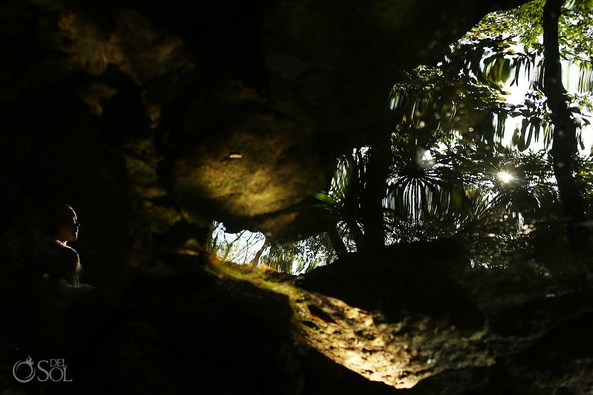 Riviera Maya cenote trash the dress Mexico Del Sol Photography