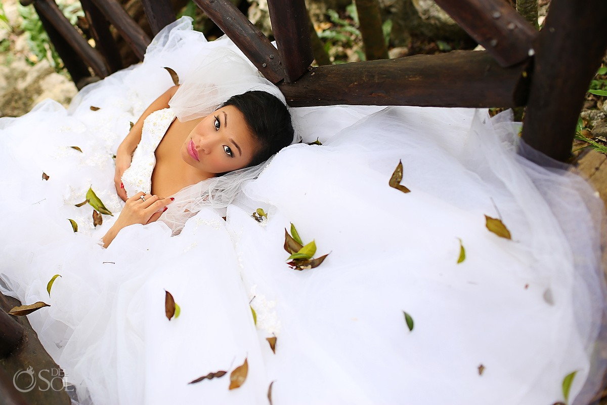 Riviera Maya trash the dress cenote Mexico Del Sol Photography