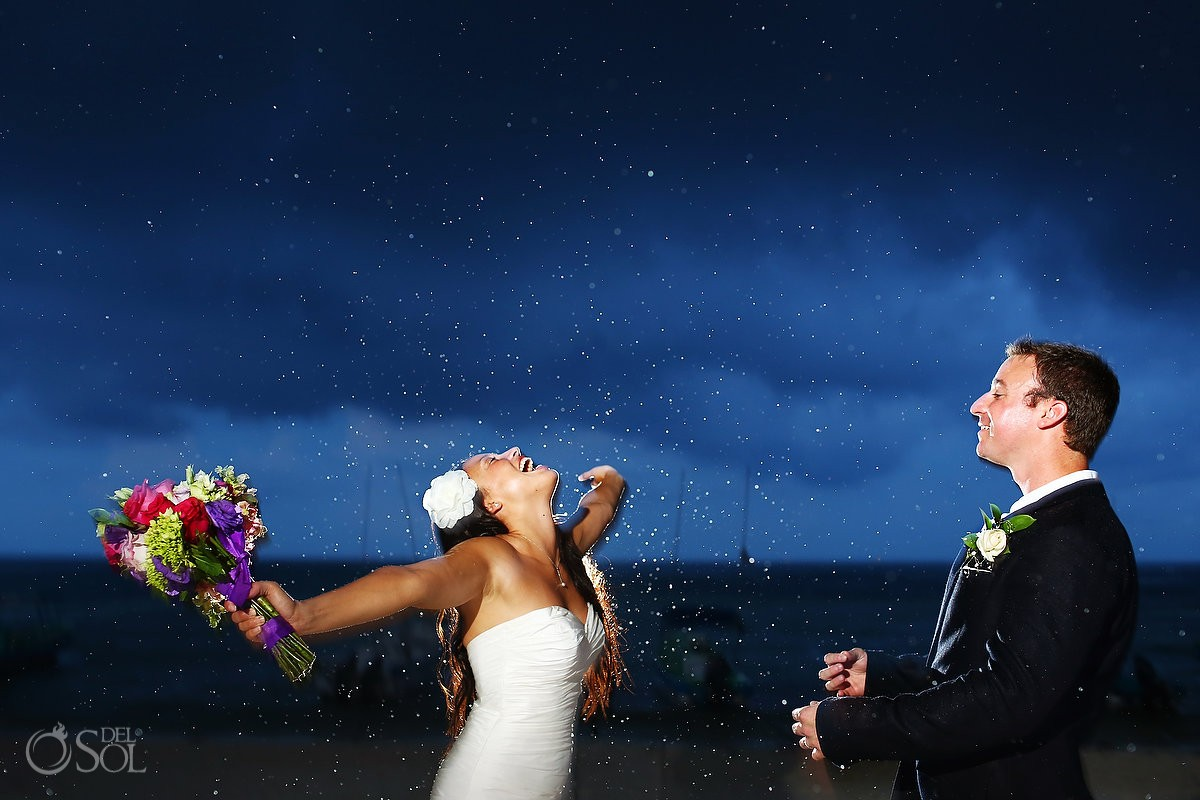 bride who wishes for rain on the wedding day gets rain