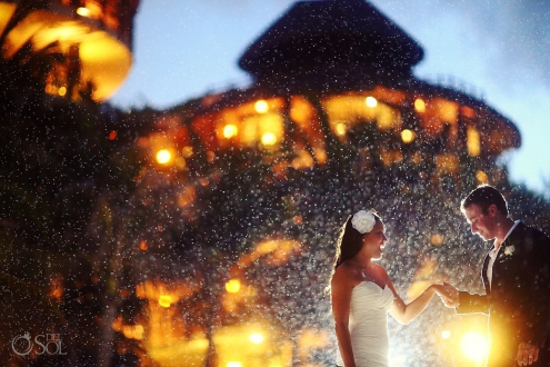 Rainy Wedding photo at EL Taj Playa del Carmen