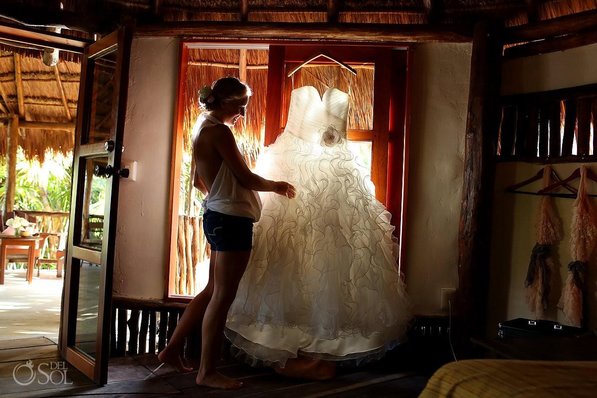 Tulum beach wedding Nueva Vida de Ramiro Mexico photographers Del Sol Photography