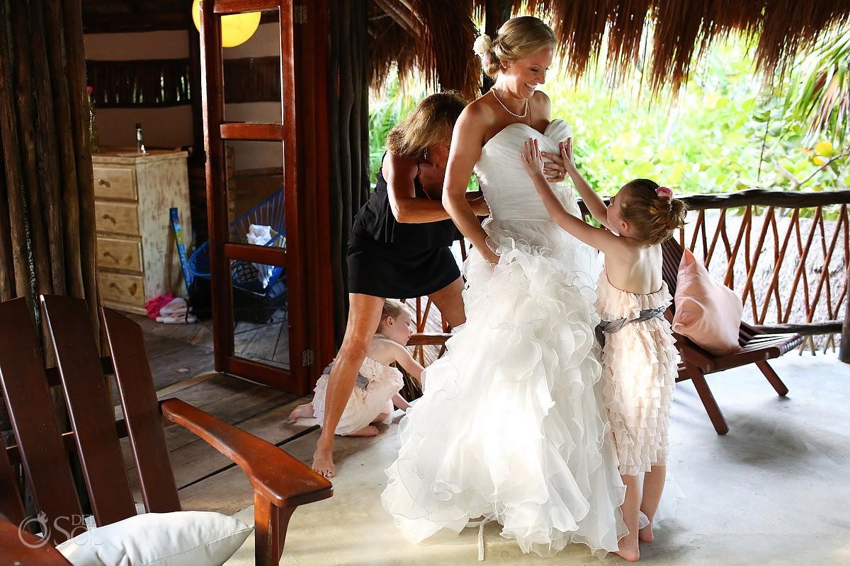 Tulum beach wedding Nueva Vida de Ramiro Riviera Maya Mexico Del Sol Photography