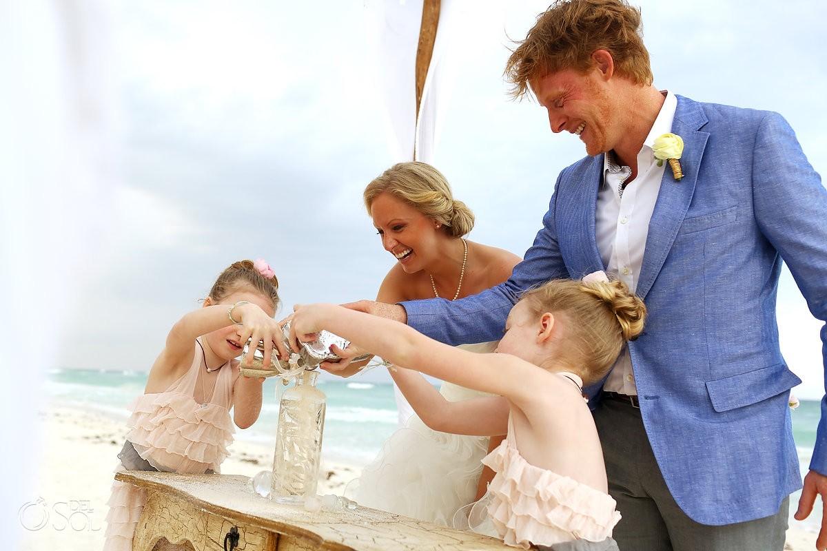 include your children in your wedding ceremony nueva vida ramiro hotel tulum mexico