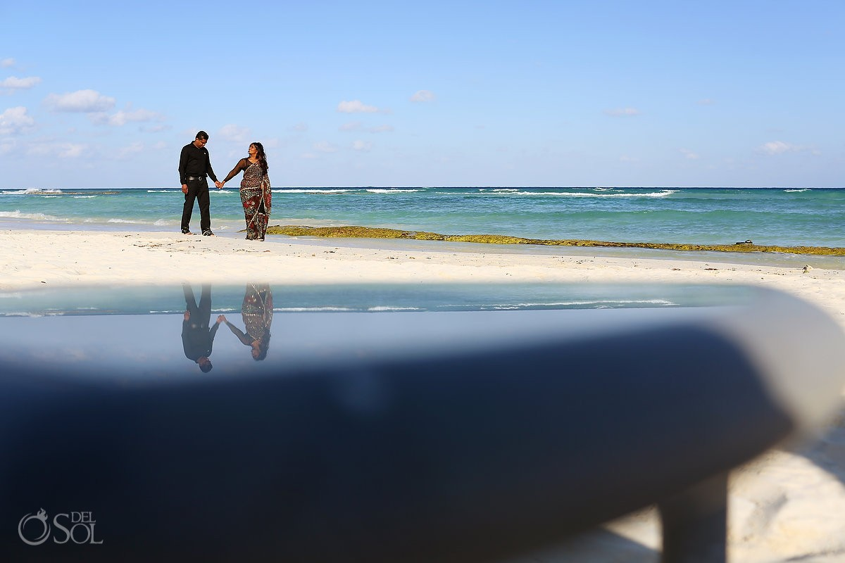 Family portraits beach Grand Velas Resort Riviera Maya, Mexico Del Sol Photography