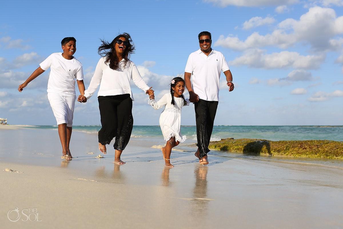 Riviera Maya family beach portraits Grand Velas Resort Mexico Del Sol Photography