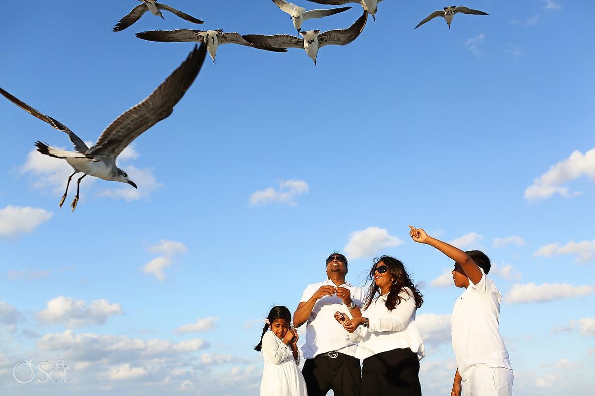 Riviera Maya family portraits beach Grand Velas Resort Mexico Del Sol Photography