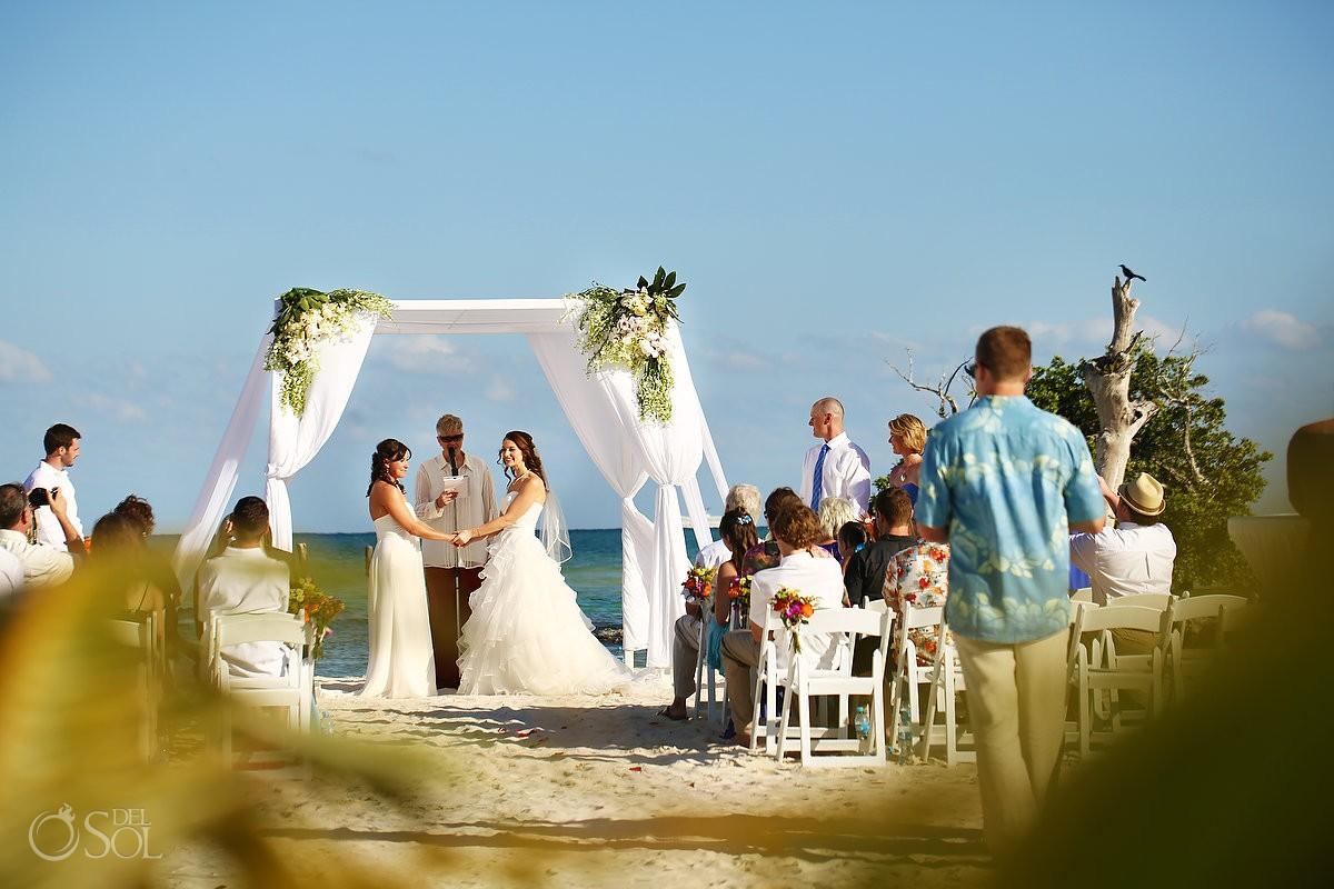 Lesbian same sex destination wedding Riviera Maya