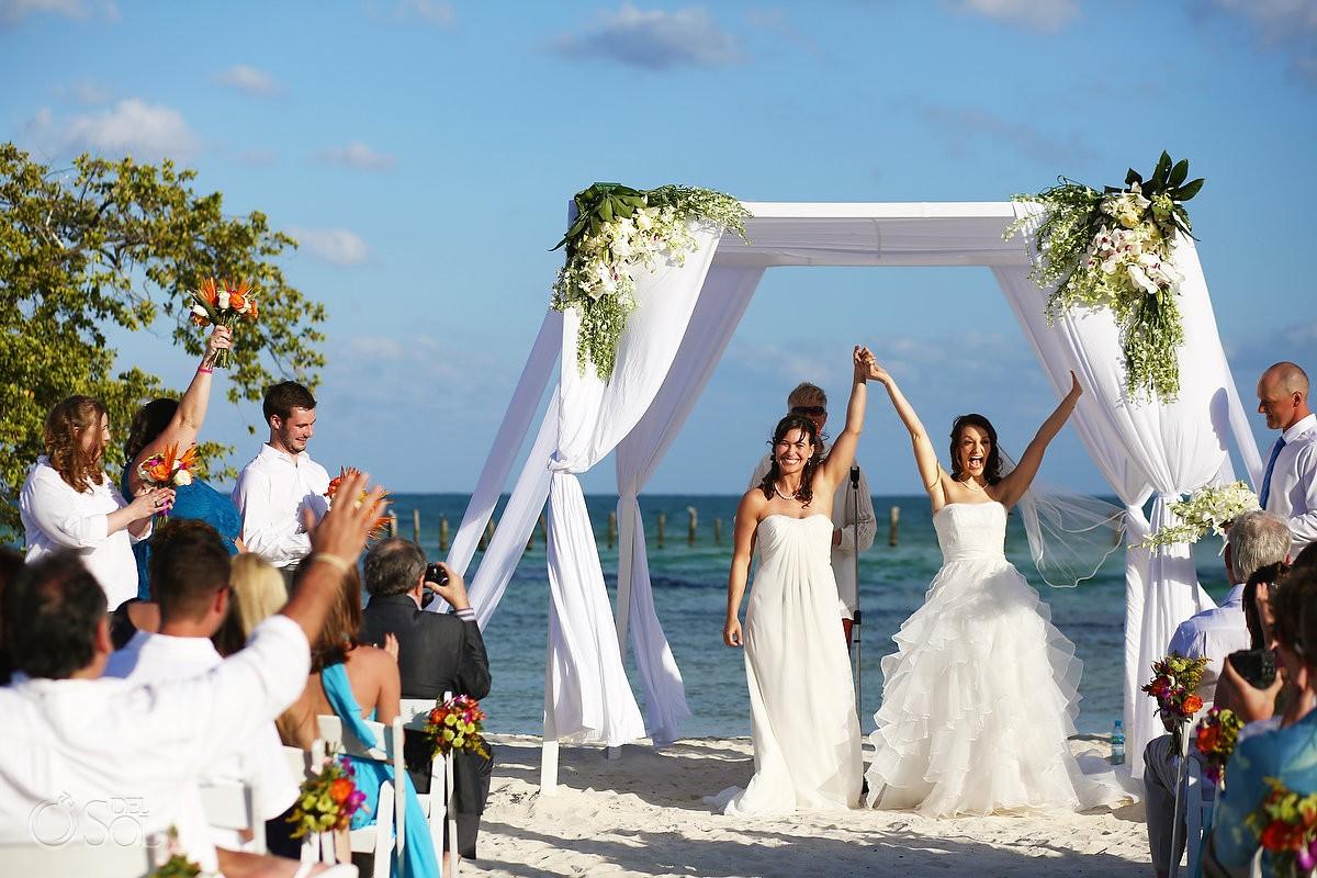 Same sex lesbian destination wedding Mexico