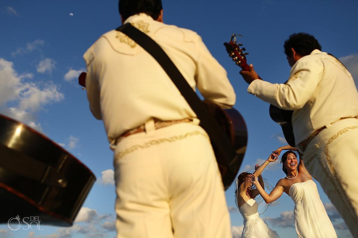 Lesbien gay LGBT wedding first dance mariachi