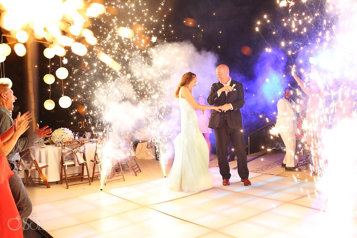 Dreams Riviera Cancun Weddings first dance