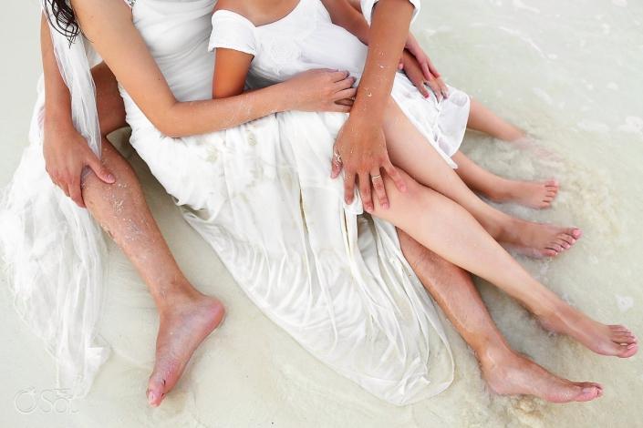 Riviera Maya Playa del Carmen beach trash the dress Mexico Del Sol Photography