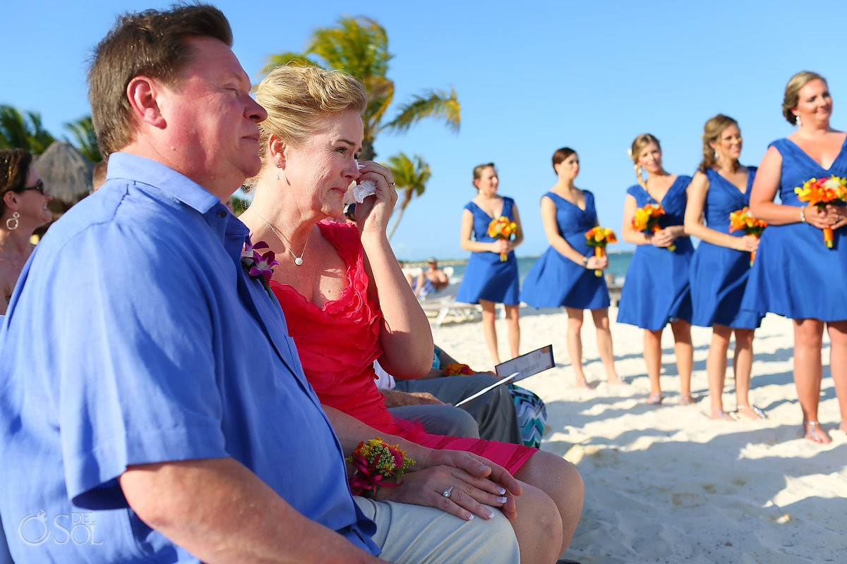 emotional beach ceremony Riviera Cancun Wedding Secrets Capri