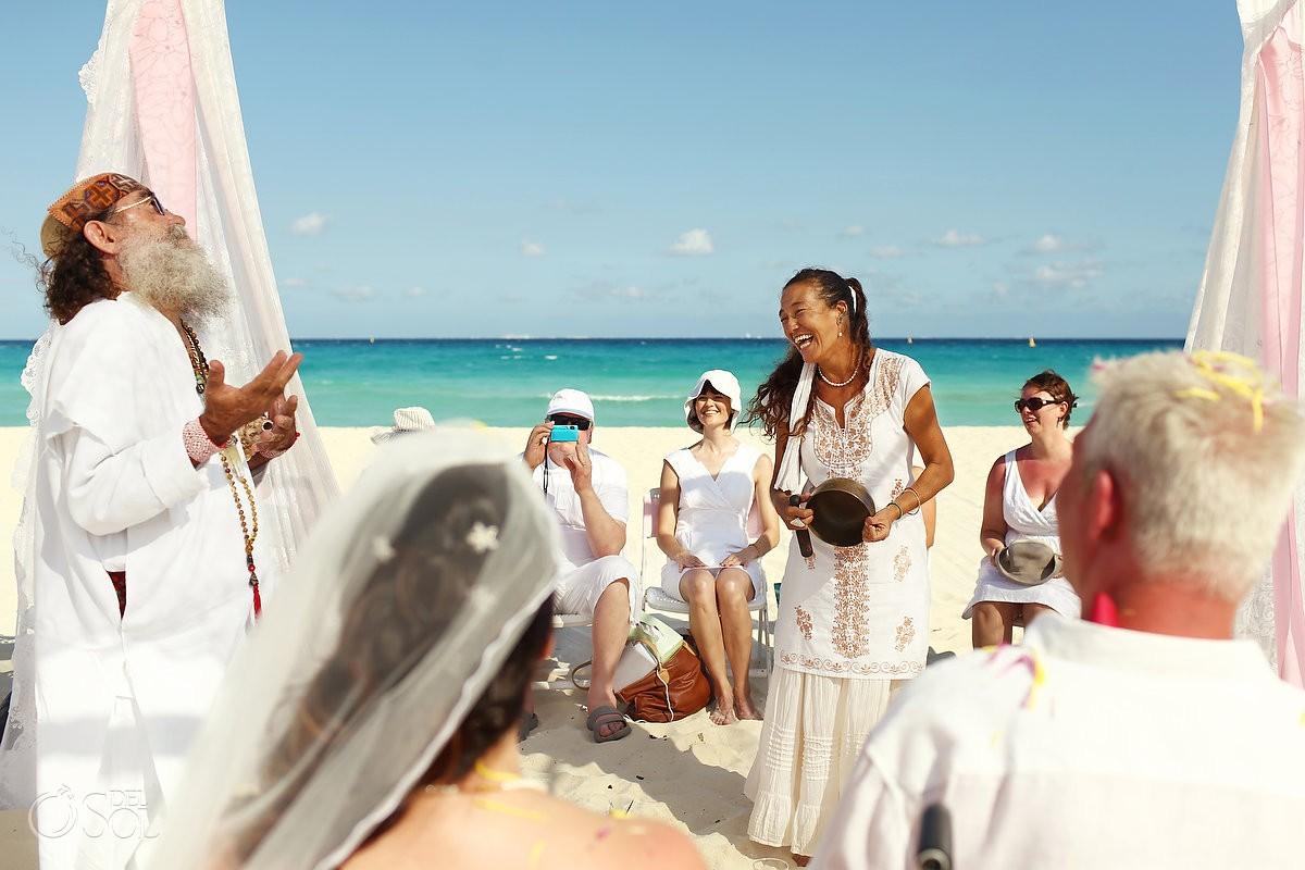 Cosmic beach wedding Sandos Playacar Playa del Carmen Mexico Del Sol Photography