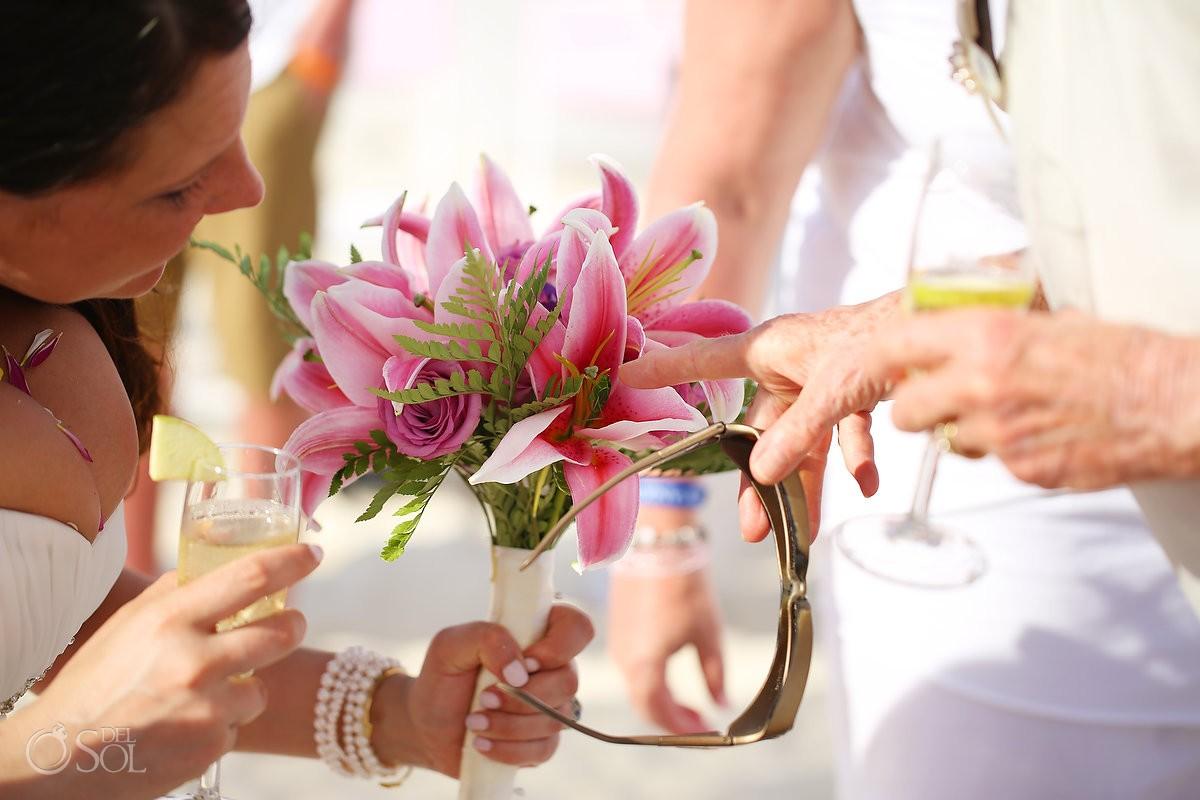 Cosmic beach wedding Sandos Playacar Mexico Del Sol Photography