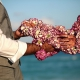 mehndi hands flower garland artistic wedding portrait photography Sandos Cancun
