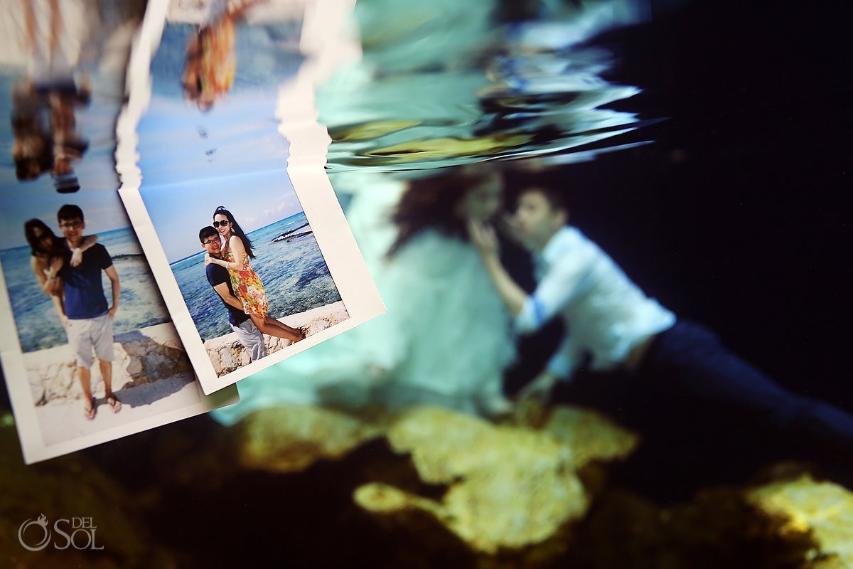 Trash the dress underwater Riviera Maya Mexico Del Sol Photography