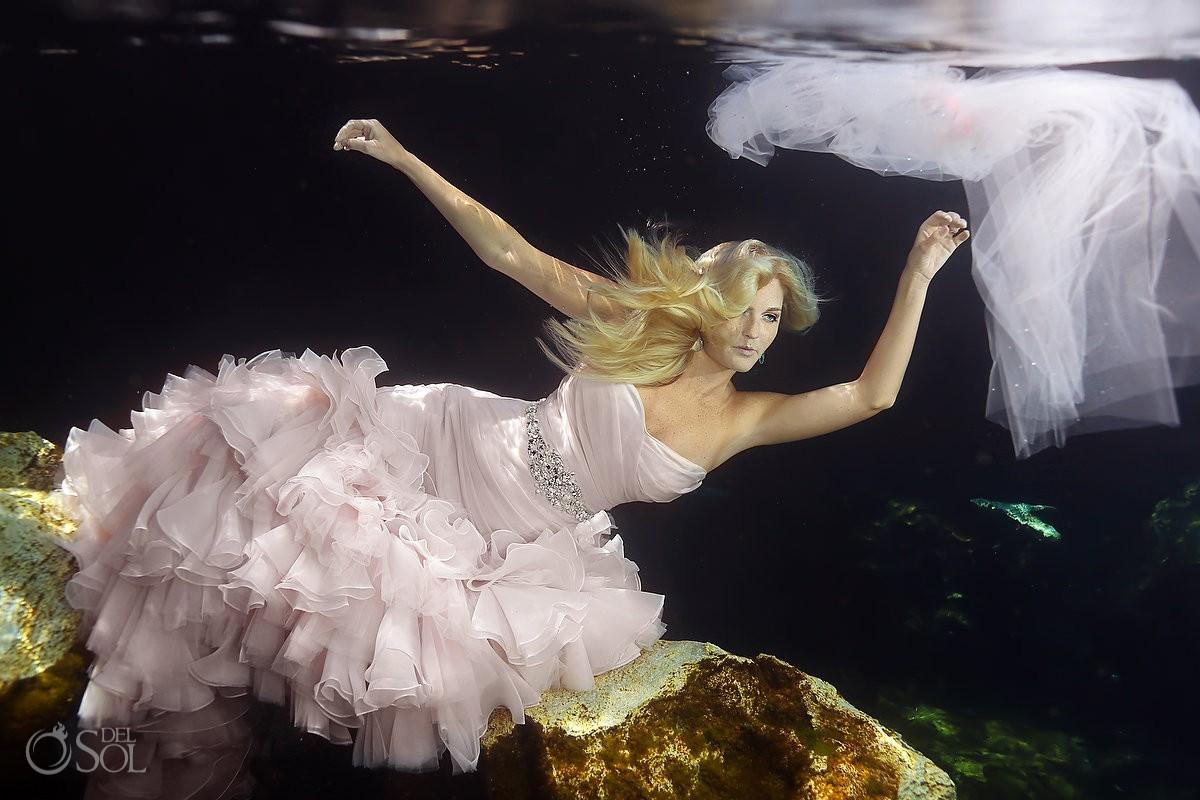 Maggie Sottero Underwater dress bride under water