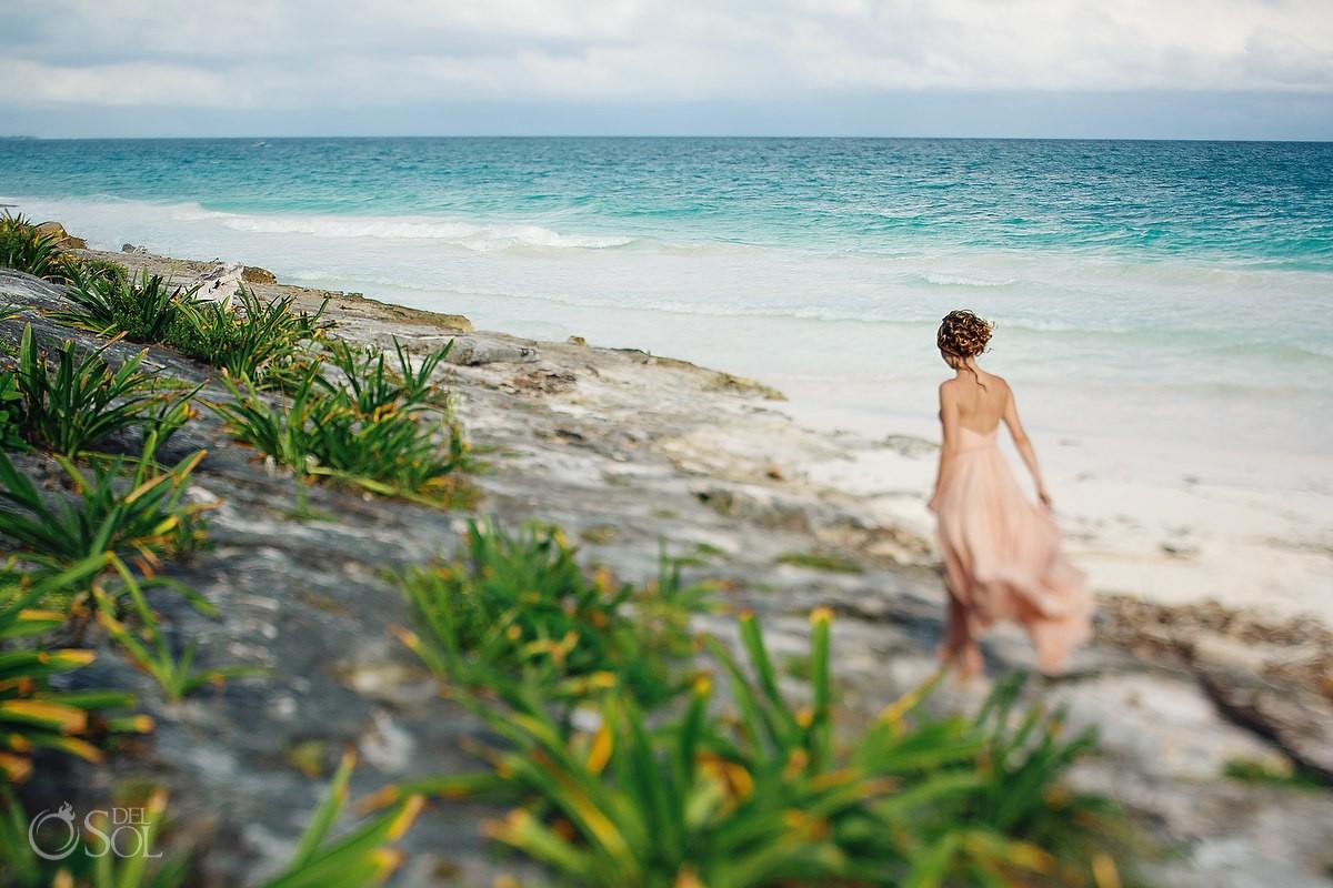 Beach wedding Tulum Mexico Del Sol Photography