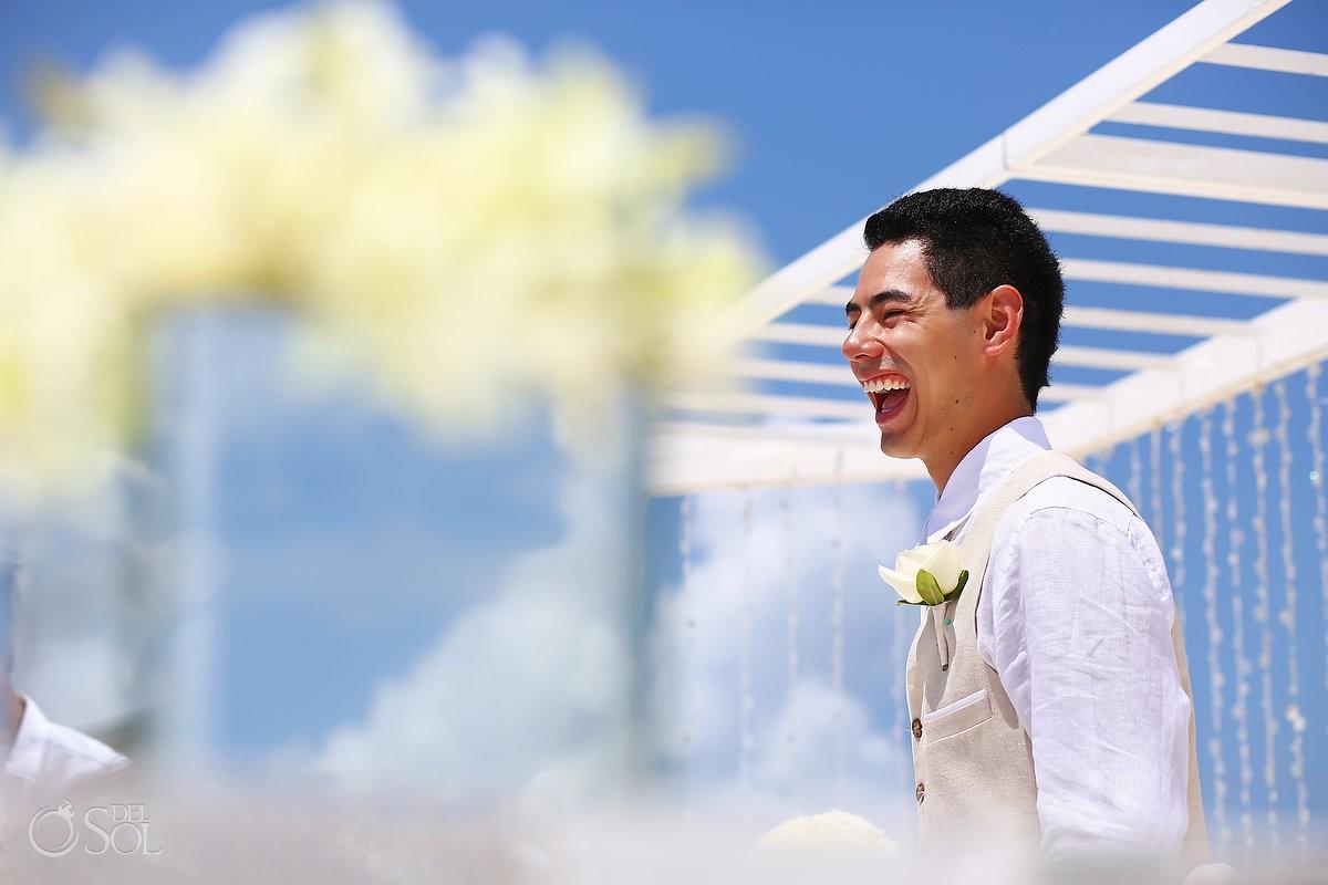 Destination wedding beach Moon Palace Cancun Mexico Del Sol Photography
