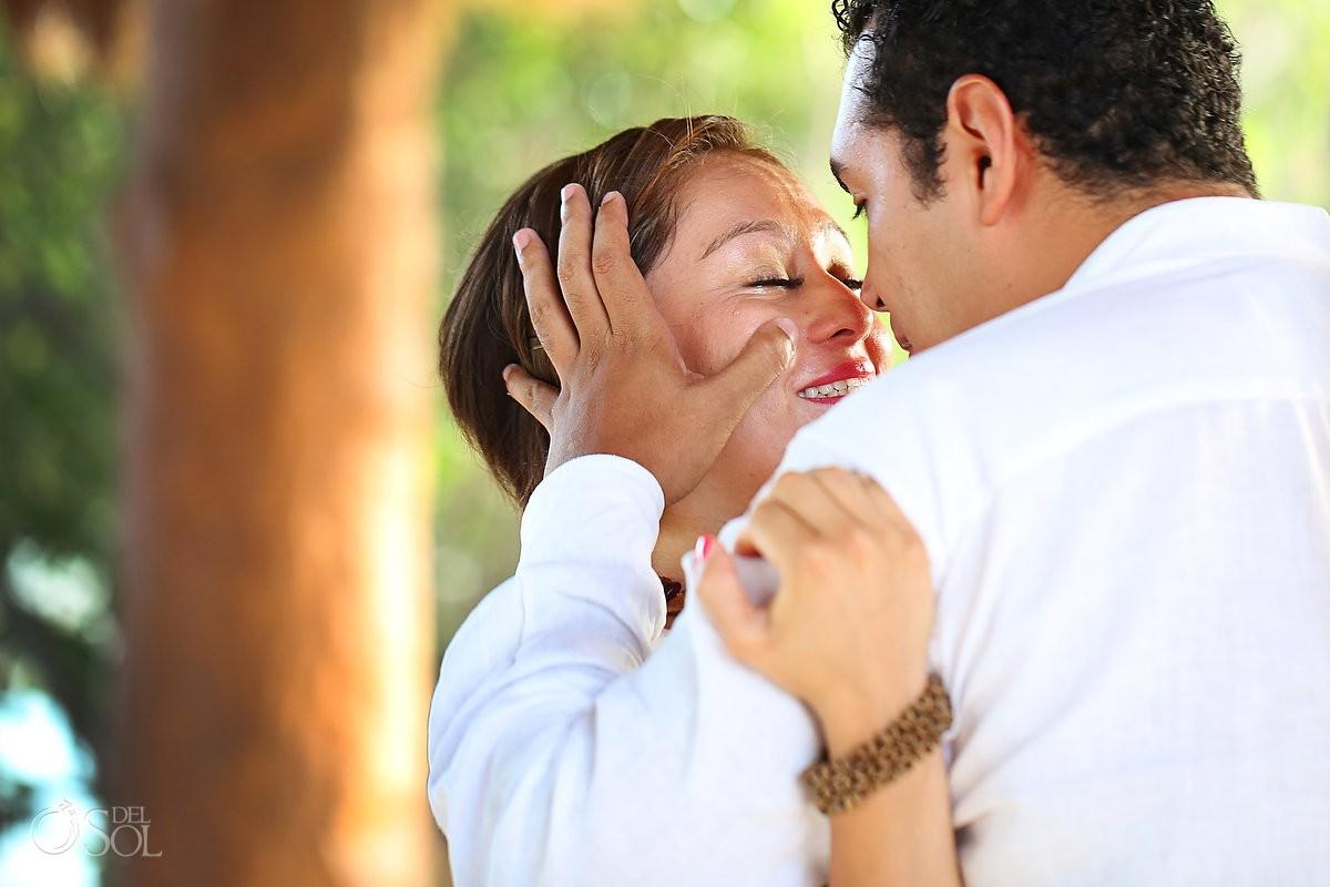 Xoximilco Cancun romantic surprise engagement Del Sol Photography Mexico