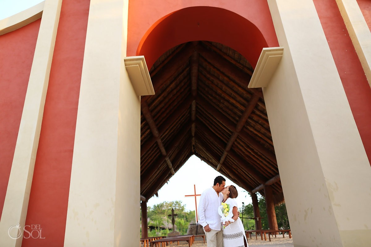 Xoximilco Cancun romantic engagement chapel Del Sol Photography Mexico