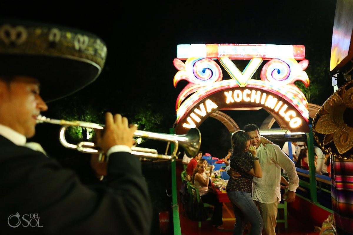 Xoximilco Cancun romance surprise engagement Del Sol Photography Mexico