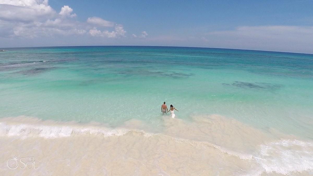 Aerial GoPro drone photography Riviera Maya beach Mexico Del Sol Photography