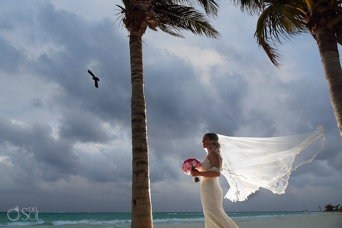 bride portrait for Wedding at Secrets Maroma
