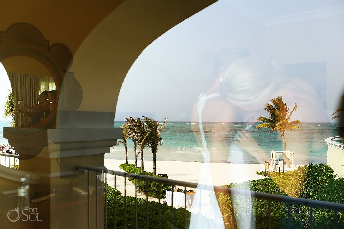 bridal reflection in the riviera maya caribbean ocean at dreams tulum hotel