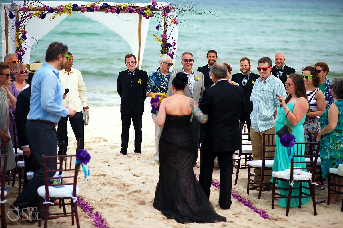 Destination wedding Le Reve Playa del Carmen Mexico Del Sol Photography