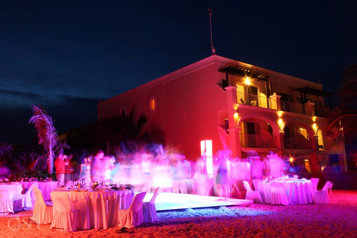 destination wedding photos of dreams tulum dinner beach reception