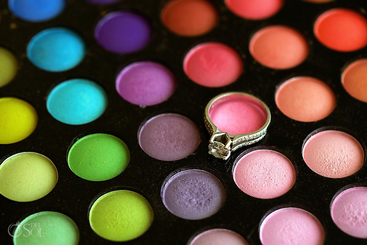 engagement and wedding rings makeup