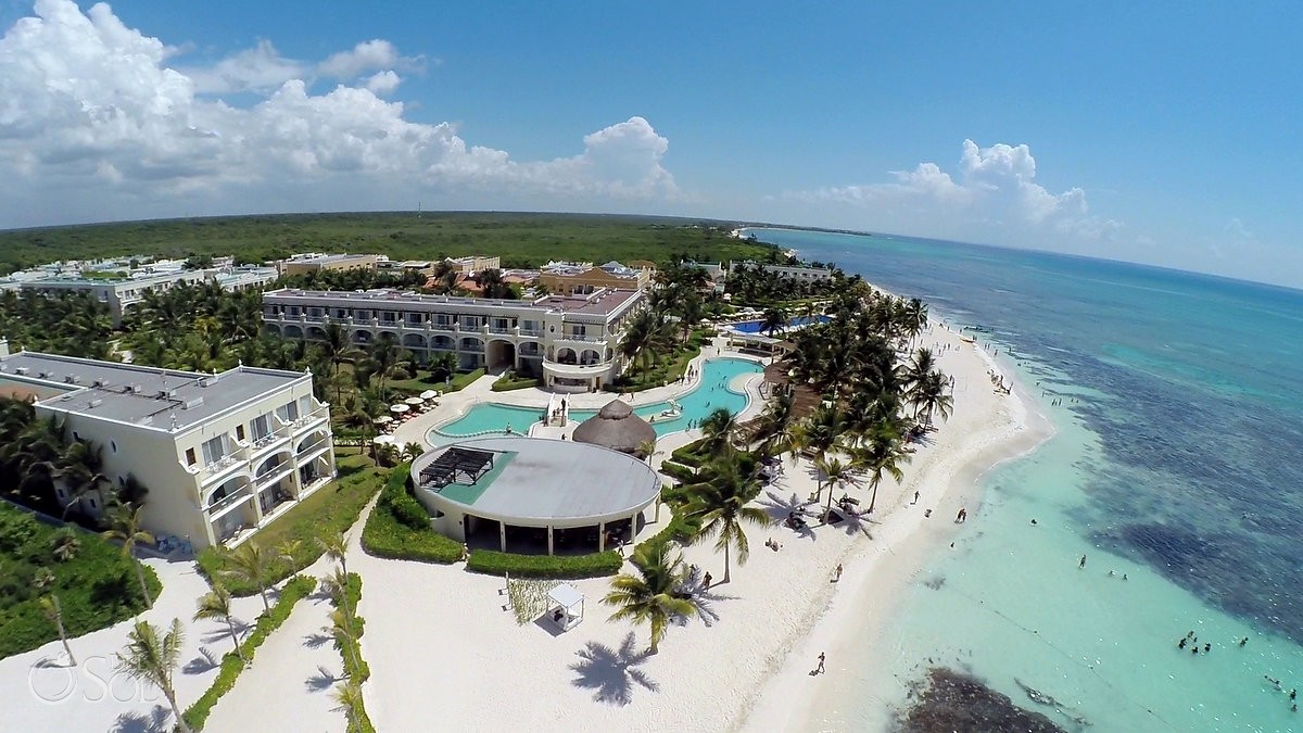 Aerial drone photo of Dreams Tulum Riviera Maya Del Sol Photography Mexico