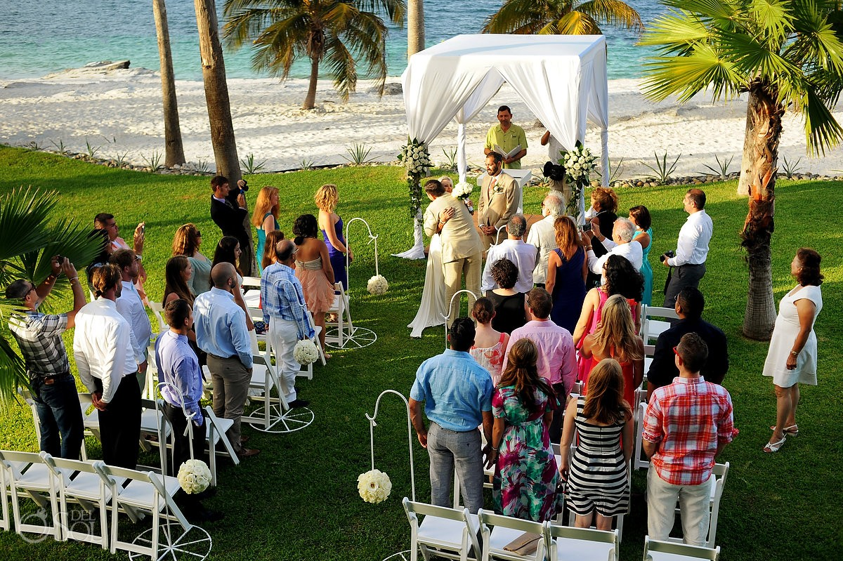 Cancun Beach Wedding Riu Palace Peninsula - Stacie and Milad - Del ...