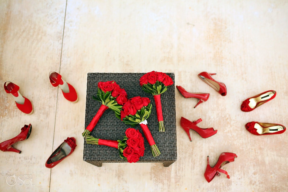 Red High heels now jade destination weddings