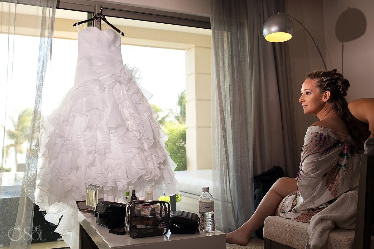 Secrets Silversands riviera cancun wedding dress