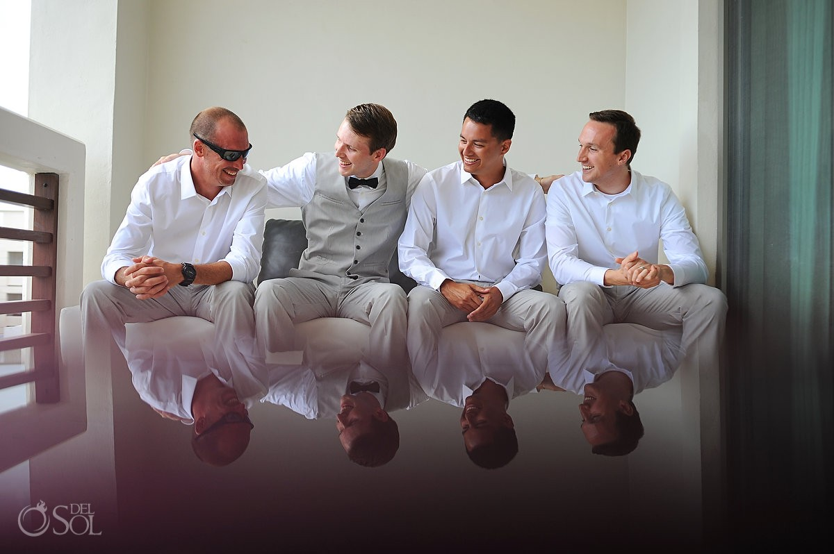 groomsmen Secrets Silversands riviera cancun wedding