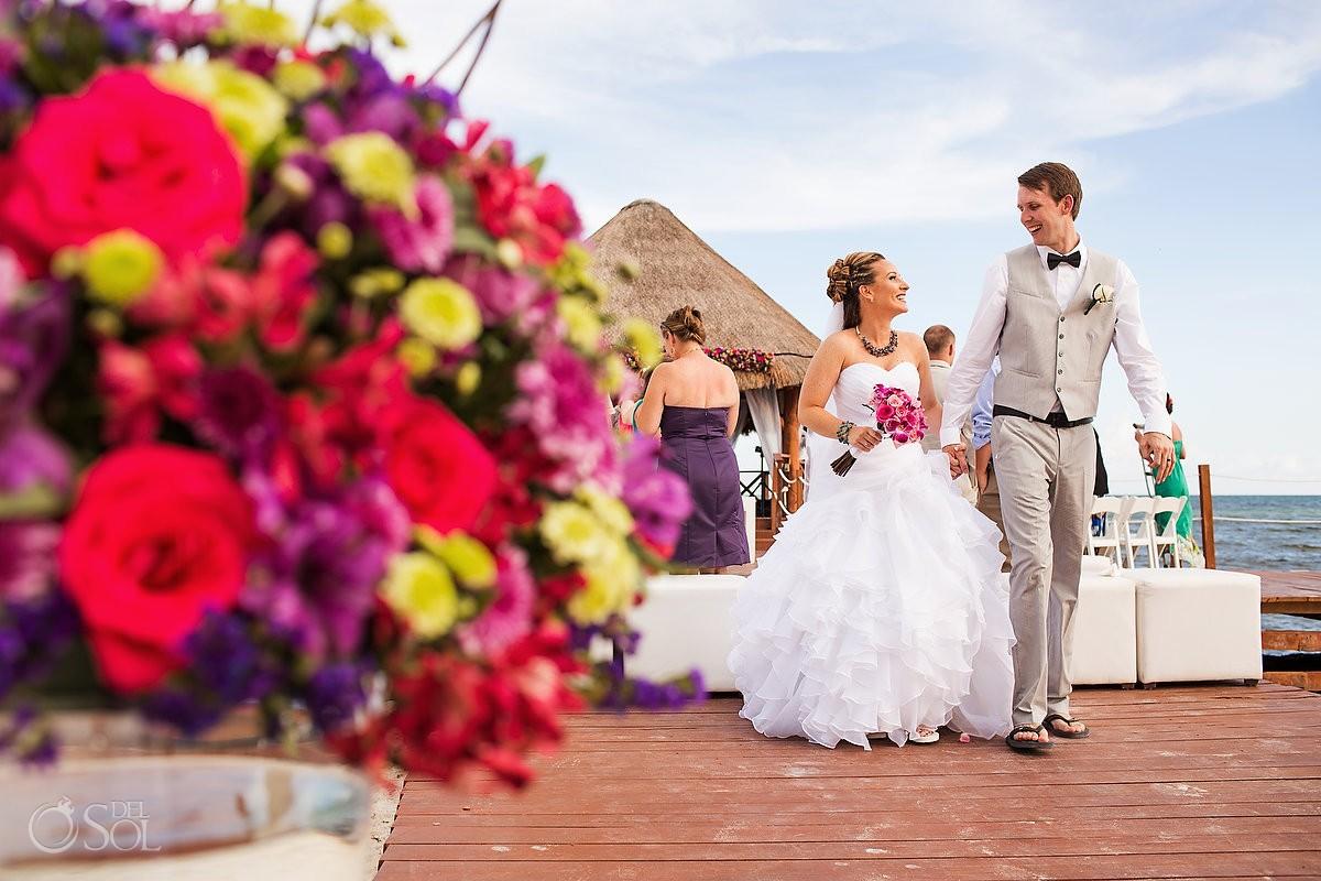 Secrets Silversands riviera cancun dock wedding